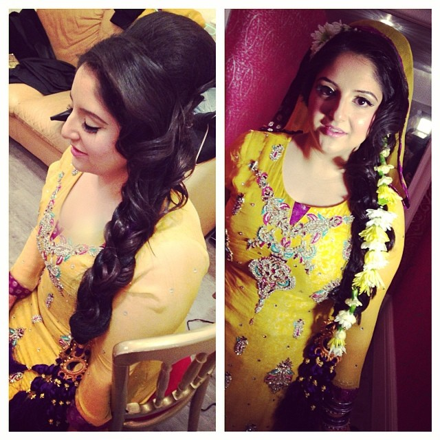 Mehndi Hairstyles Uk : Mehndi hairstyles with paranda