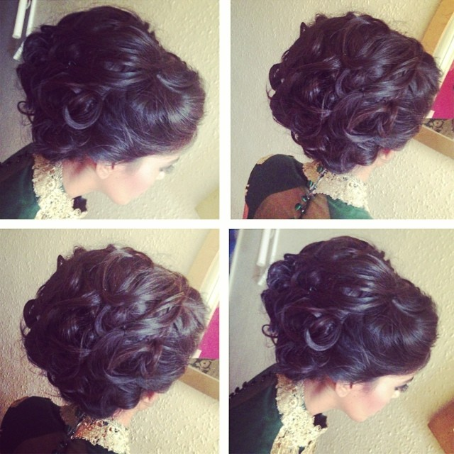 Messy Up Do For Sister Of The Bride Hair Hairstyle