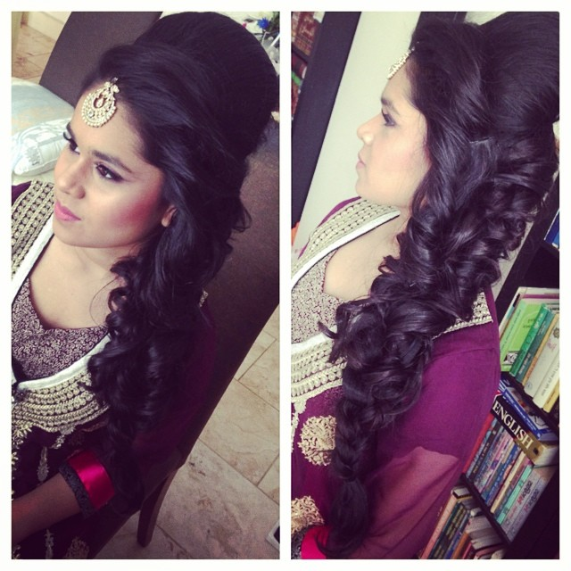 I Mehndi Hairstyles Dailymotion : Curlyplait saira rahman hairstylist asian bridal