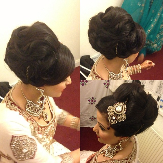 Asian Bridal Hairstyle : Bridalupdo saira rahman hairstylist asian bridal hairstylist in