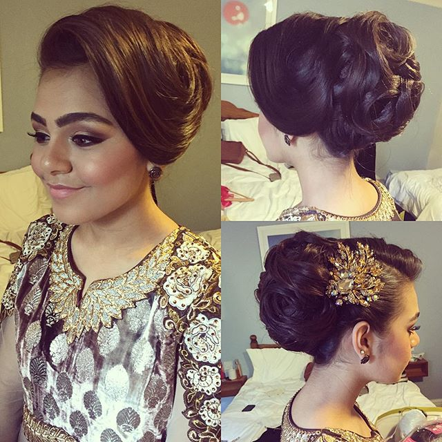 Asian Wedding Hairstyle: SAIRA RAHMAN HAIRSTYLIST Asian Bridal